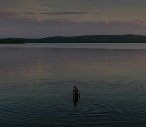 Jacques. First swim of the year in Lac Mégantic. June 2014 by Michel Huneault