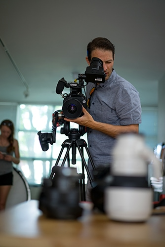 Dale Sood with Sony FS7