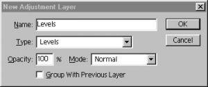Adjustment Layers Control Panel