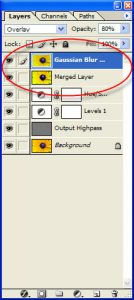 Figure 3 - Gaussian Blur Control Panel - Photoshop