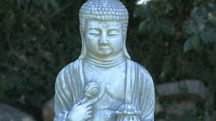 Buddha captured with 100mm lens approximately 6 feet from subject.