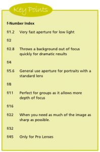speeds 2 - aperture key points