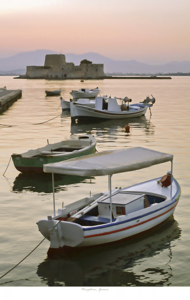 Harbour at Navplion, Greece