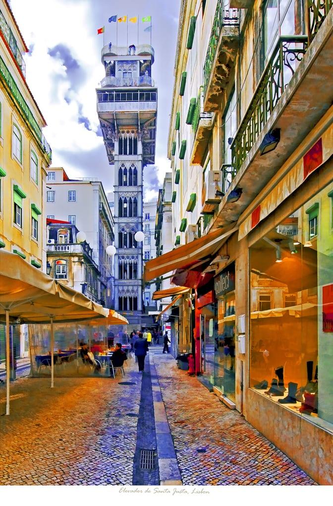 Lisbon Elevador de Santa Justa  straight