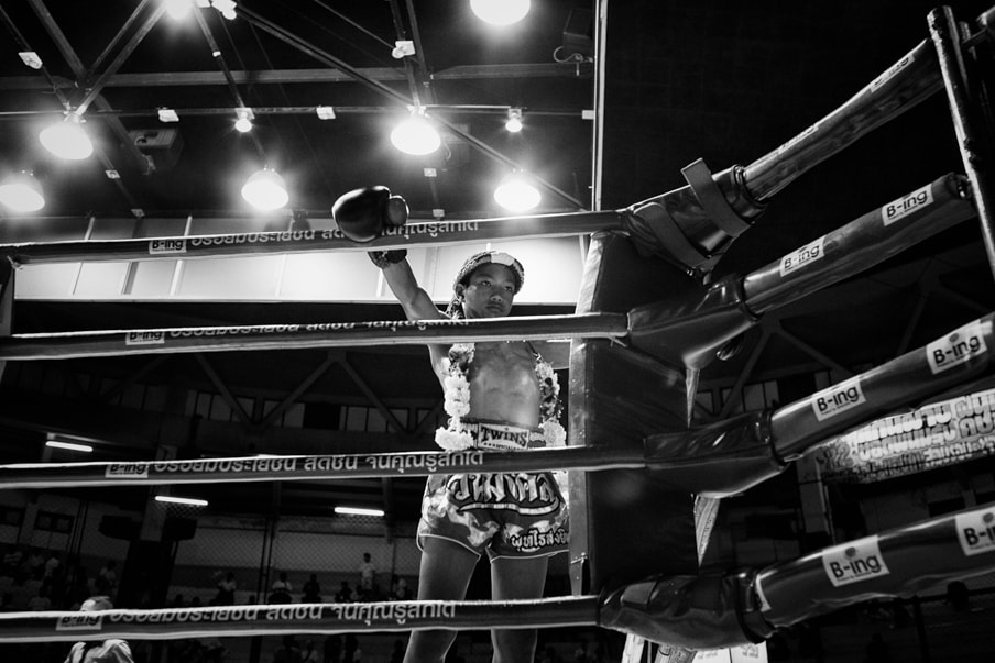 Boxing Child by Martin Gros
