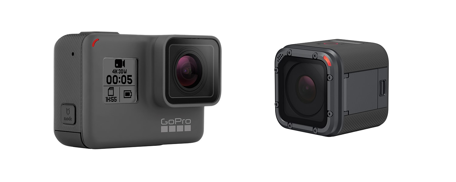gopro hero 5 black and hero 5 session cameras. Black Bedroom Furniture Sets. Home Design Ideas