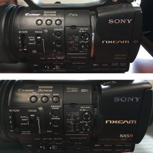 Sony HXR-NX5R Button Comparison