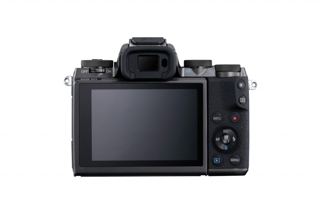 Canon EOS M5 Back with LCD and EVF