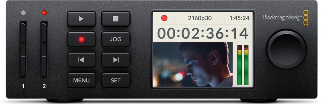 Blackmagic HyperDeck Studio Mini Front
