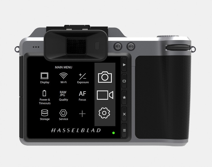 Hasselblad X1D Main Menu