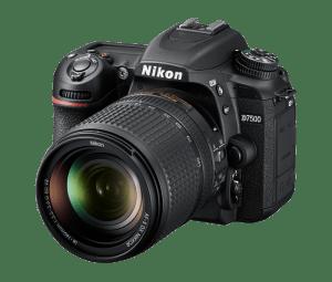 Nikon D7500 with lens