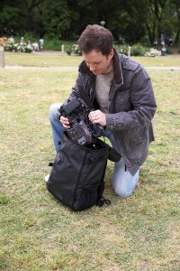 Panasonic AU-EVA1 in Daybag