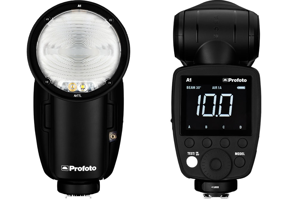Profoto A1 Front and Back