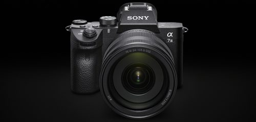 Sony a7 III camera with lens