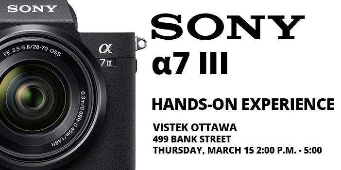 Sony a7 III blog cover - vistek ottawa