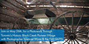 Buggy in barn at Black Creek Pioneer Village