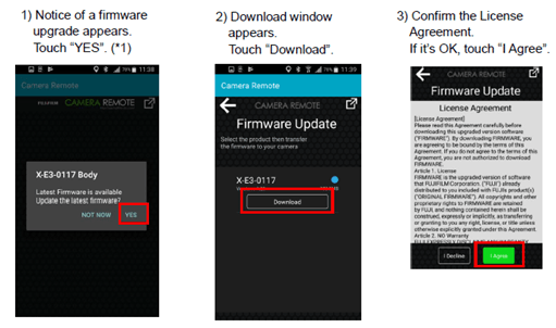 FUJIFILM CAMERA REMOTE APP Firmware Ver 3.2.0 graphic 2