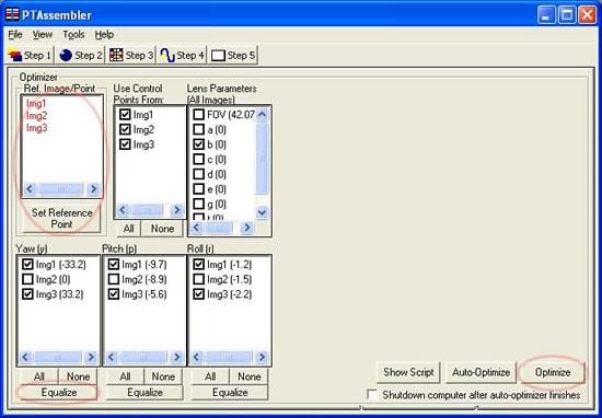 PTAssembler Optimizer Panel