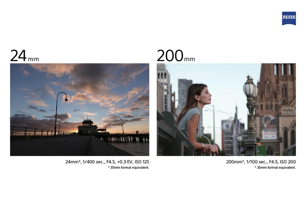 Sony RX100 VI Focal Length Comparison Images