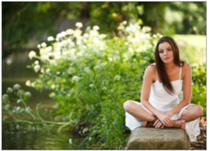 dof 5 - Girl sitting by Pond - Mark Cleghorn