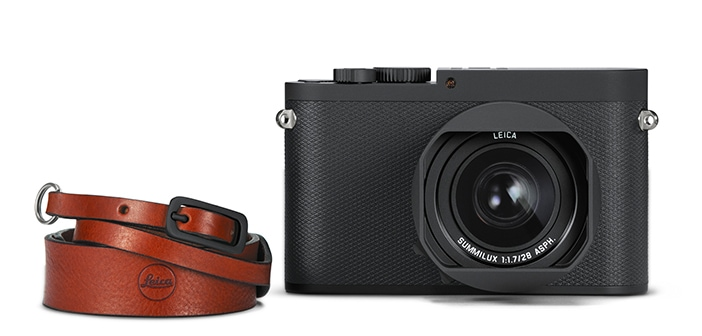 Leica Q-P with leather strap