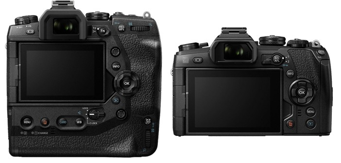 Olympus OM-D E-M1X Back Comparison with E-M1 Mark II