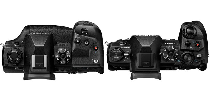 Olympus OM-D E-M1X Top Down Comparison with E-M1 Mark II