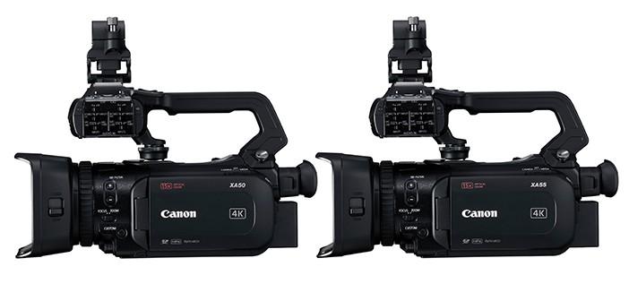 Canon XA55 and XA50 Camcorders