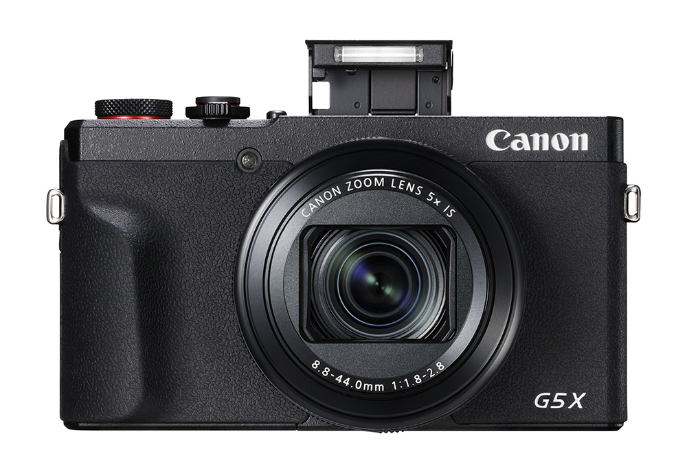 Canon PowerShot G5 X MKII with pop up flash