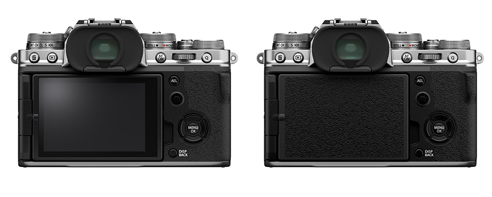 Fujifilm X-T4 Back Showing Touchscreen Positions