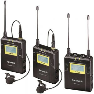 Saramonic UwMic9 DTLK - Dual TX LAV Kit - UHF Wireless Mic System
