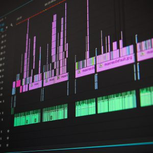 audio levels on a monitor