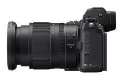 Nikon Z 7 II with 24-70 lens side view
