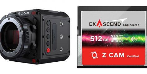 Exascend CFast 2.0 Memory Cards for Z CAM Cameras