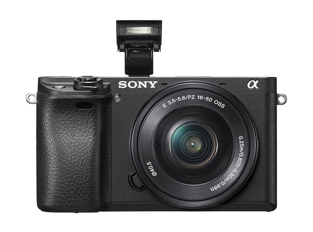 Sony α6300 with pop-up flash