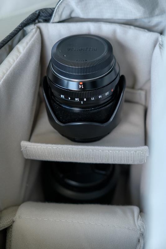Tenba DNA 13 Interior with Lens